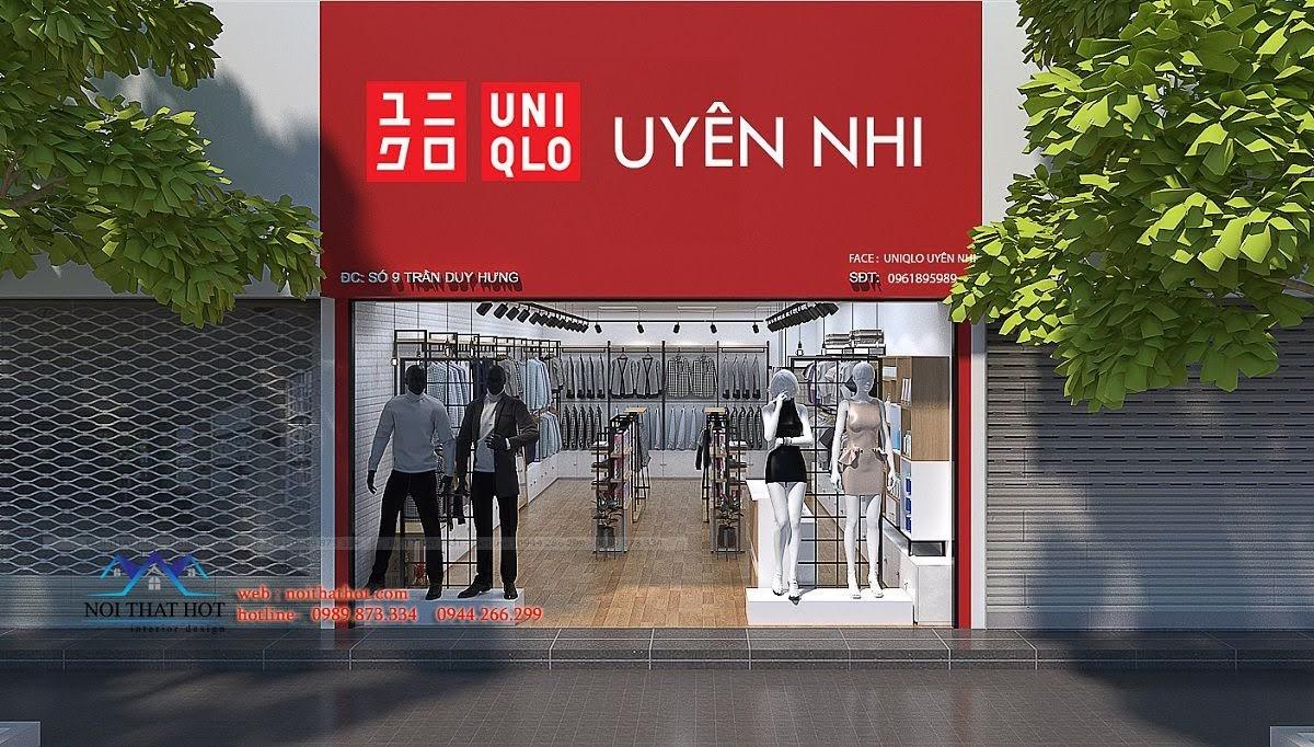 thiết kế shop thời trang uniqlo 1