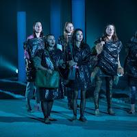 The women of the chorus in Oksana G., Tapestry Opera, 2017. Photo: Dahla Katz.