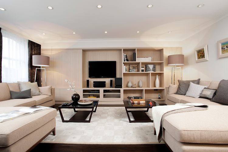 Living room at Belgravia apartment