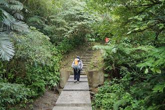 Photo: 奇特的「橋」過溪,感覺是只有橋墩,沒有橋的橋