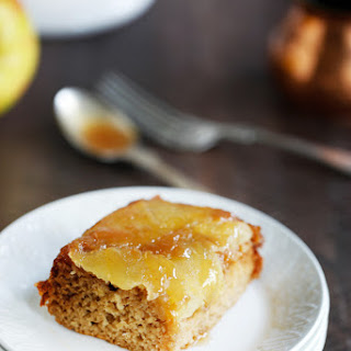 Caramel Apple Upside Down Honey Cake