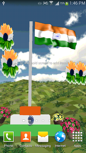 Indian Flag 3D Live Wallpaper