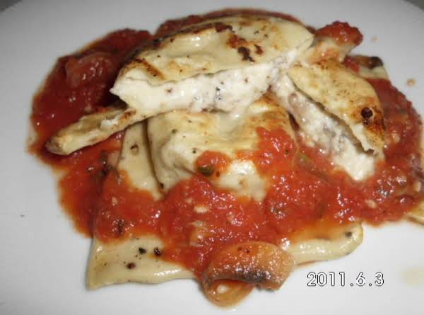 Sausage & Cheese Ravioli With Sauce