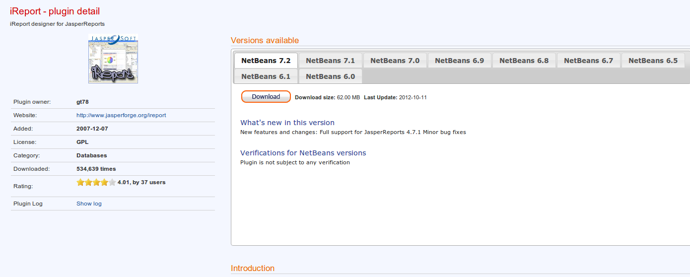 How to add ireport plugin to netbeans