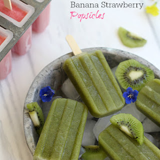 Strawberry and Kiwi Spinach Popsicle Recipes