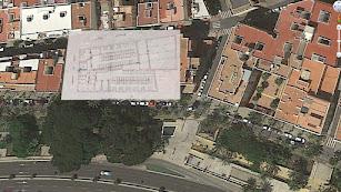 Ubicación del antiguo Hospital de Sangre de Almería.