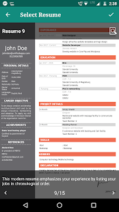 free resume maker app cv builder app free template screenshot thumbnail - Resume Maker App