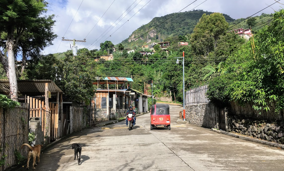 The backstreets of San Marcos, Lake Atitlan