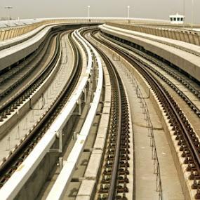 Dubai Green Line Metro by Elisa Abiog - Transportation Trains