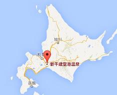 新千歳空港温泉:地図