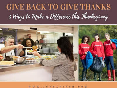 Give Back to Give Thanks: 5 Ways to Make a Difference This Thanksgiving