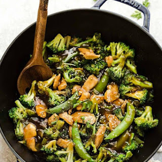 Chicken Stir Fry with Broccoli and Snap Peas + MEAL PREP + RECIPE VIDEO Recipe