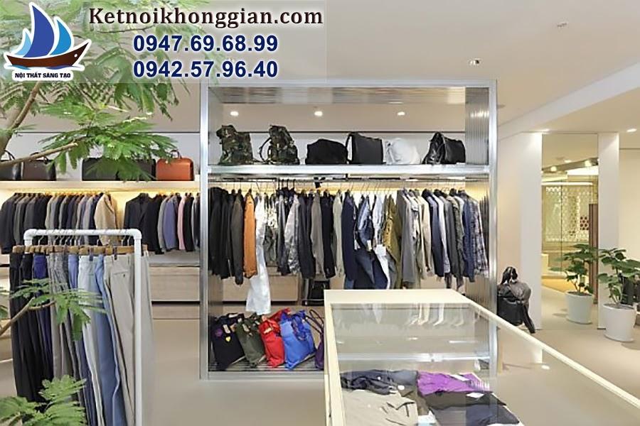 thiết kế cửa hàng quần áo nam lịch lãm