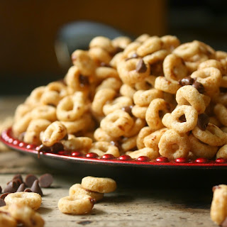Hot Buttered Cheerios with Mini Chocolate Morsels.