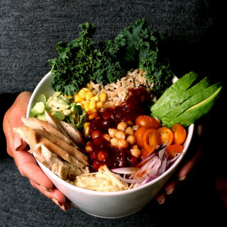 Organic Rice, Black Quinoa and Chicken Bowl with Spicy Beer Molasses BBQ Sauce
