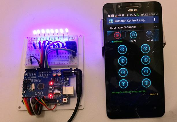 Bluetooth Controller 8 Lamp- screenshot