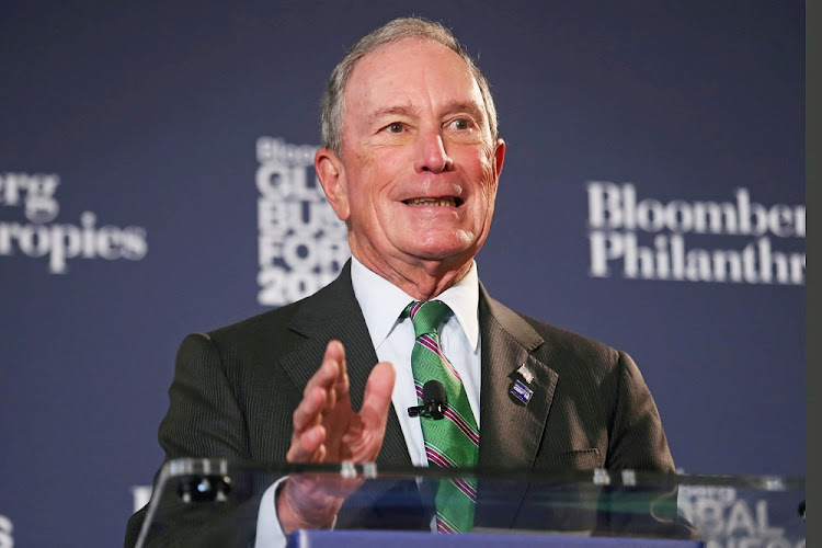 Michael Bloomberg speaks at the Bloomberg Global Business forum in New York, the US, September 26 2018. Picture: REUTERS/SHANNON STAPLETON