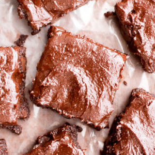 Chocolate Almond Butter Frosted Fudgy Paleo Brownies (Vegan, Gluten Free, Paleo).