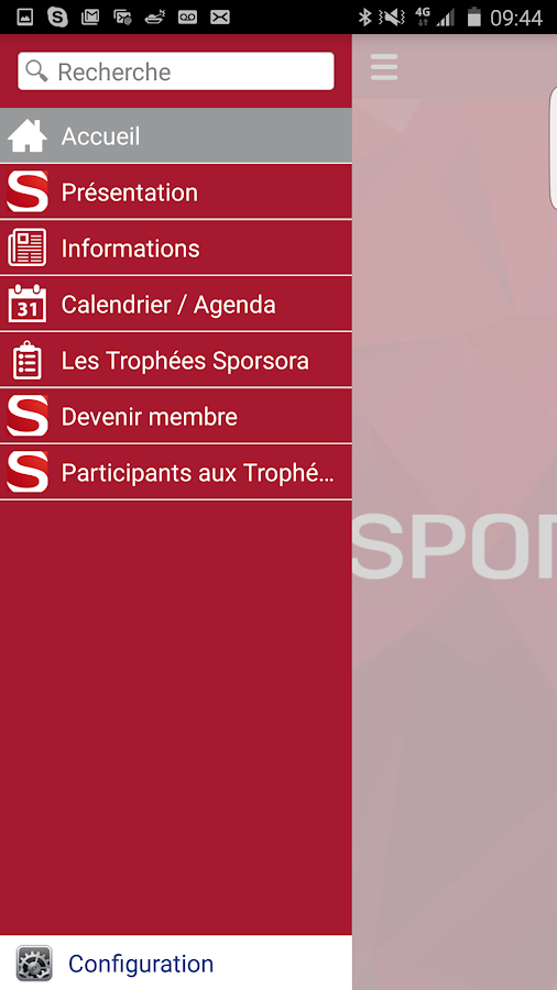 Sporsora- screenshot