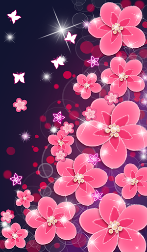 Flower Live Wallpaper : flower, wallpaper, Download, Beautiful, Flowers, Glowing, Wallpapers, Android, STEPrimo.com