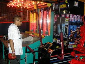 Photo: Kalonji was playing this boxing game that used motion detection