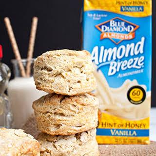 Easy Almond Breeze Honey Biscuits.