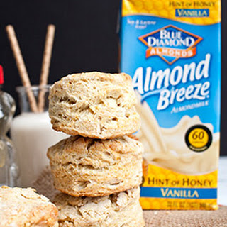 Easy Almond Breeze Honey Biscuits.