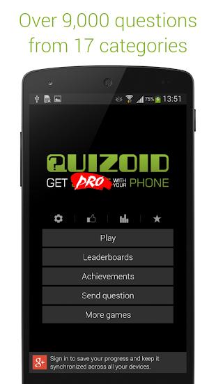 Quizoid Pro: Category Trivia- screenshot thumbnail