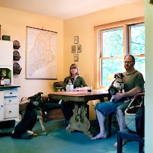 Photo: title: Shana & Crash Barry, Butterfield, Maine date: 2012 relationship: friends, art, met through art world Portland years known: Shana, 10-15; Crash 15-20