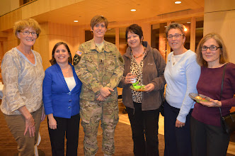 Photo: 1st Lt. Tara Robertson, Team member of the Minnesota National Guard Argibusiness Development Team was joined by many friends and family, as well as many other distinguished visitors attended the premier showing of Twin Cities Public Television Documentary 'Bridging War and Hope,' at the Beth El Synagogue in St. Louis Park, Minn. on Oct. 20.