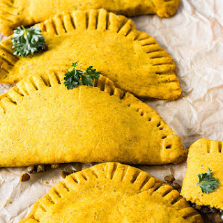 Jamaican Lentil Patties (Gluten-Free, Vegan).