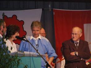 Photo: CD Geburtshelfer Urs Mangold & CD Produzent Kurt Thommen ( r )
