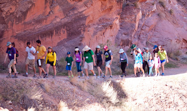 Photo: Hiking up the trail at Passover in Moab, Utah.