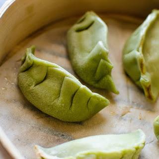 {Spinach} Green Dumpling Dough / Potsticker Dough