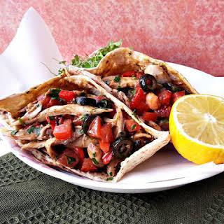 Moroccan Chicken Pita Sandwiches.