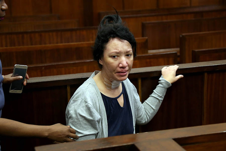 Megan Prins appearing in Durban Magistrate Court for killing her seven year old son.