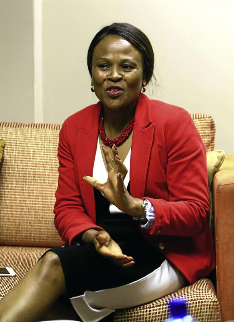 Public protector Busisiwe Mkhwebane in her offices in Pretoria during the interview. File Photo