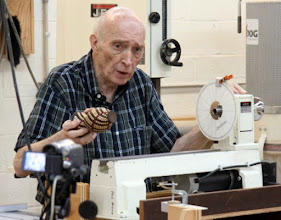 Photo: That's an indexing wheel on his mini lathe.