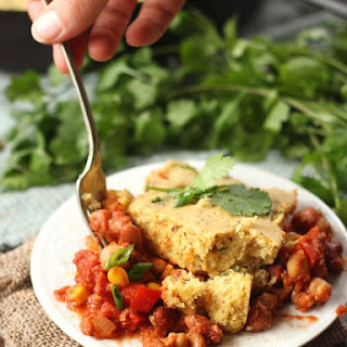 Three Bean Vegan Tamale Pie