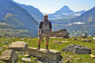Photo: Logan Pass (where we started our hike) in background