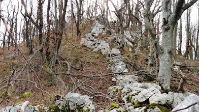 Photo: malo pred vrhom sem naletel na kamnito ogrado in se ob njej  povzpel do vrha