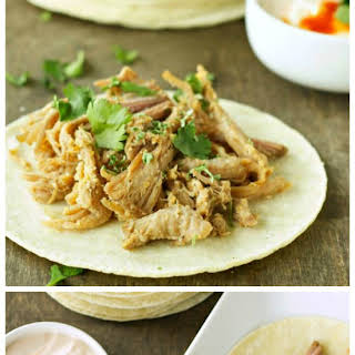 Slow Cooker Pork Tacos With Adobo Sour Cream from Slow Cooker Gourmet.