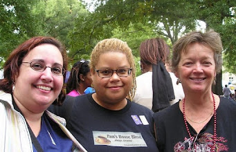 Photo: Kate and I with local LGBT rights attorney Sharon Thompson.