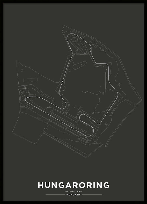 Poster, Hungaroring Formula 1 Print