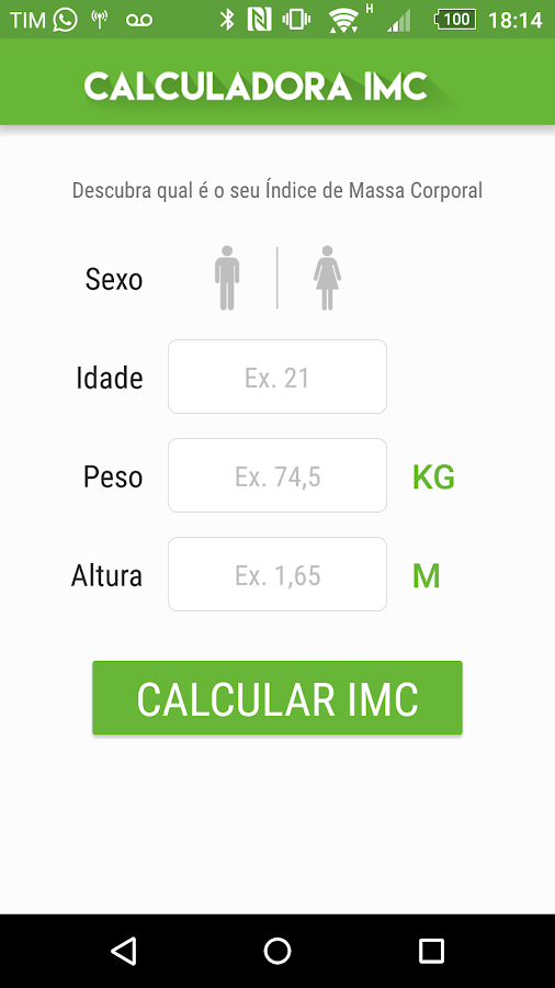 Calculadora IMC- screenshot