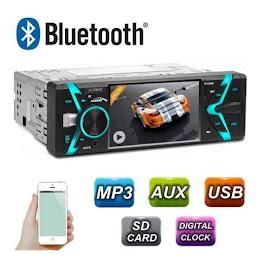Radio MP3 MP5 Player Auto 1DI,  Bluetooth, USB, Telecomanda, 4x50W
