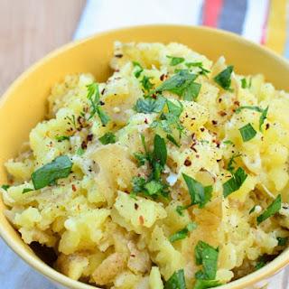Rustic Garlic and Parmesan Mashed Potatoes.