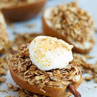 Coconut Sugar Cinnamon Baked Pears Dessert