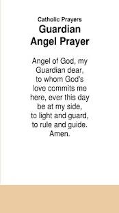 Catholic Prayers Guardian Angel Prayer - náhled