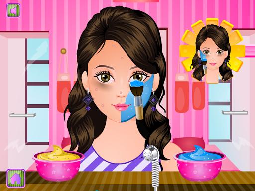 Pregnant woman spa salon games